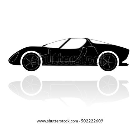 Moder Car Silhouette Stock Vector Shutterstock