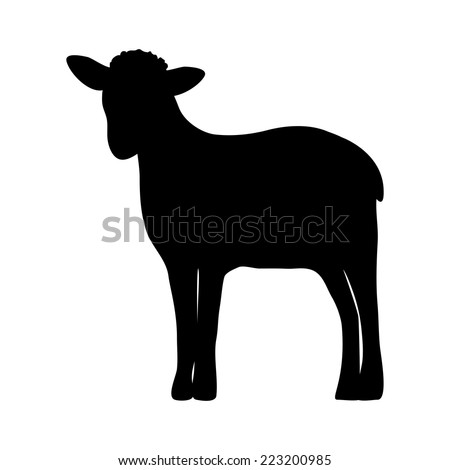 Lamb Silhouette Stock Photos, Images, & Pictures ...