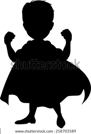 Silhouette of a superhero - stock vector