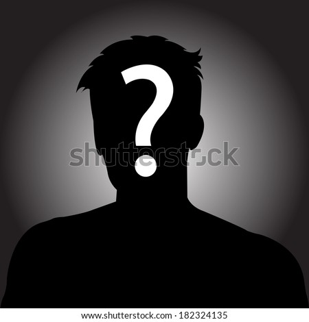 Anonymous Face Question Mark Silhouette of anonymous man
