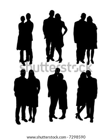 Silhouette of business people - stock vector