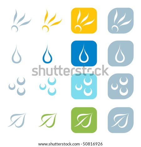Silhouette of four elements. Vector-Illustration