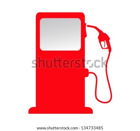 silhouette of gas station pump. isolated background vector - stock vector