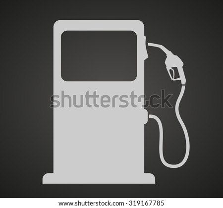 silhouette of gas station pump. isolated icon vector - stock vector
