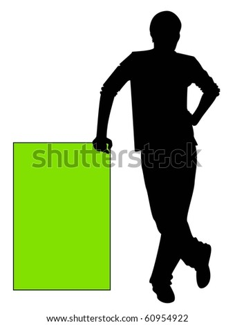 silhouette of man - stock vector
