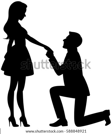 proposal silhouette engagement silhouette stock images royalty free images 1045