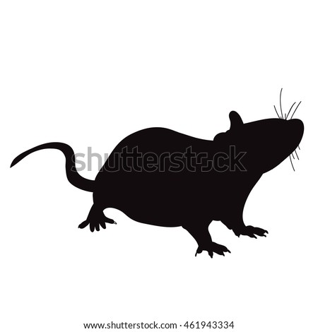 how to draw a rat silhouette easy