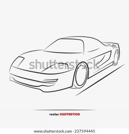 Silhouette of sport car for your design - stock vector