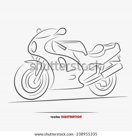 Silhouette of sport motorbike for your design - stock vector