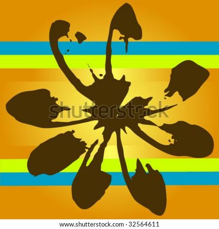 Silhouette of surf flower. Tropical Flower