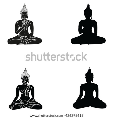 buddha silhouette stock images, royalty-free images & vectors