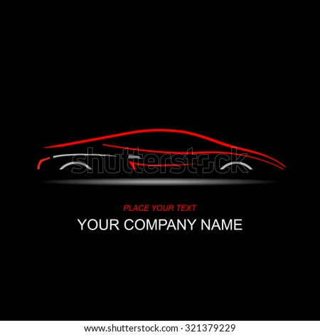 Silhouette of the car. Car symbol. Template for logotype. - stock vector