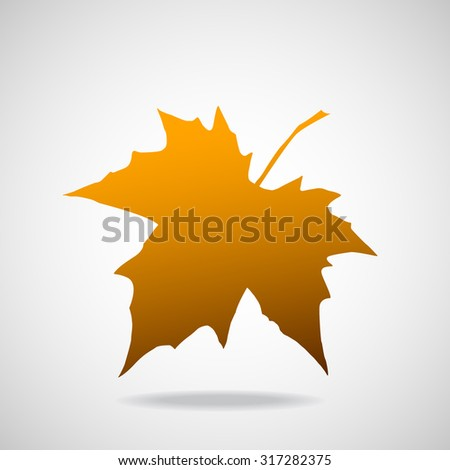 Silhouette of the maple leaf. Canadian symbol. Vector illustration. Eps 10 - stock vector