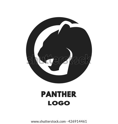 Silhouette of the panther, monochrome logo.