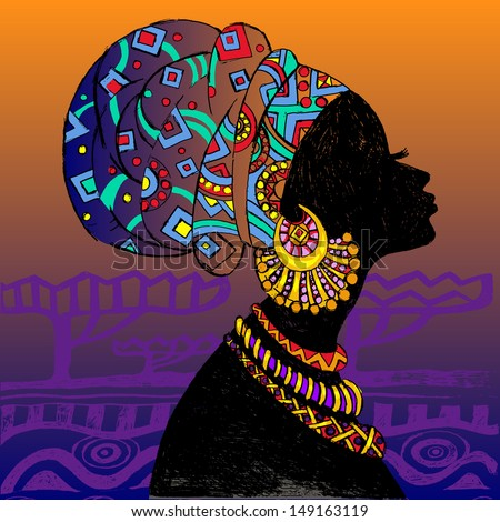 African Woman Silhouette Stock Images, Royalty-Free Images ...