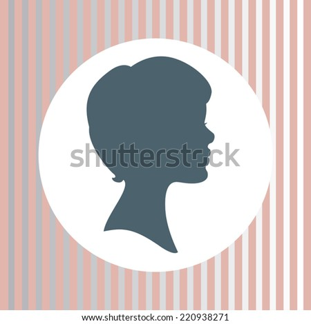 Silhouette of woman face profile - stock vector