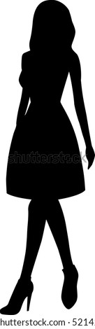 Silhouette of woman. Vector