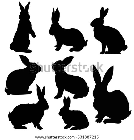 Rabbit silhouette  Etsy