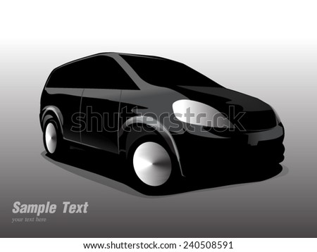 Silhouette side car. Vector illustration  - stock vector