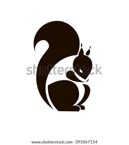 Silhouette Squirrel Template Logo Company Vector Stock Vector ...