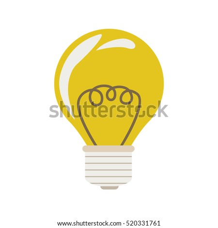 silhouette with bulb yellow glass