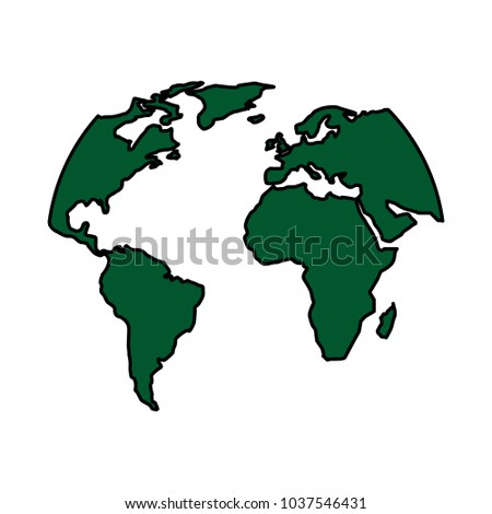 Silhouette world map location planet vector vectores en stock silhouette world map location planet vector illustration gumiabroncs Choice Image