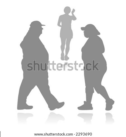 Silhouetted people (vector)