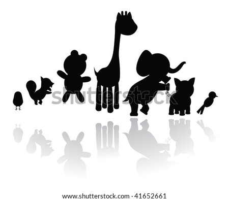 silhouettes animals