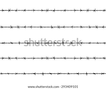 Silhouettes barbed wire, vector