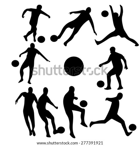 silhouettes of football players