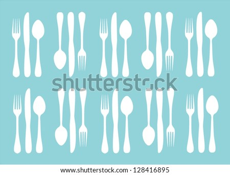 silhouettes of fork, spoon and knife