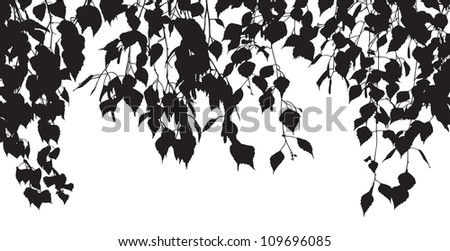 Silhouettes of leaves - stock vector