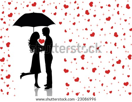Man Woman Umbrella Man Holding an Umbrella