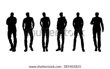 silhouettes of people in different poses