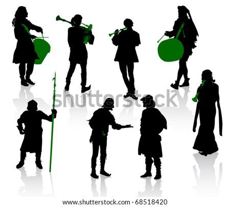 Worship Band Silhouette