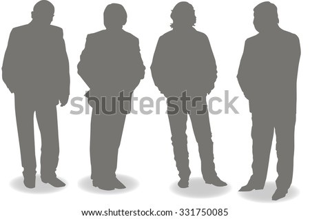 Silhouettes of people . Vector.