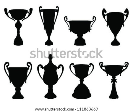 Silhouettes of trophies 2-vector