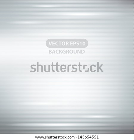 silver abstract background with stripes and lights - stock vector