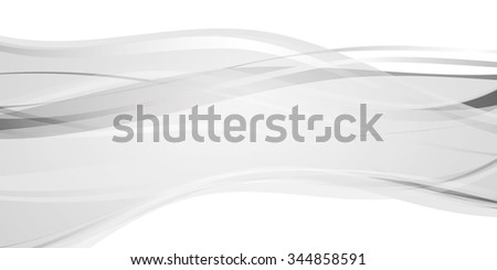 Silver abstract background with waves. vector illustration - stock vector