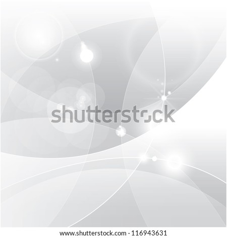 Silver abstract vector background - stock vector