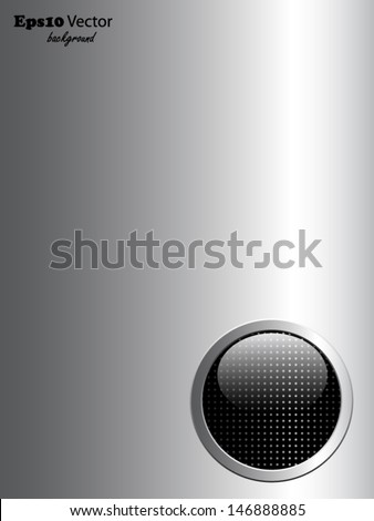 Silver and black background - stock vector