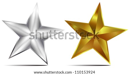 Silver and Gold Stars