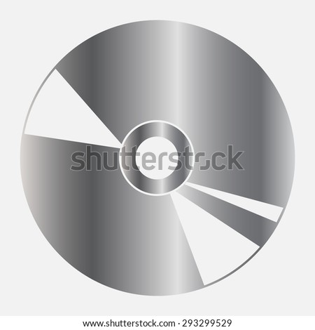 Silver CD or DVD icons  - stock vector