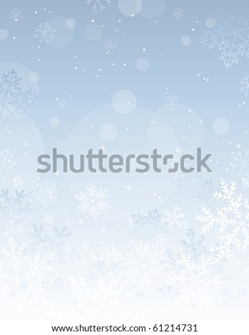silver christmas background with snowflakes, vector illustration - stock vector