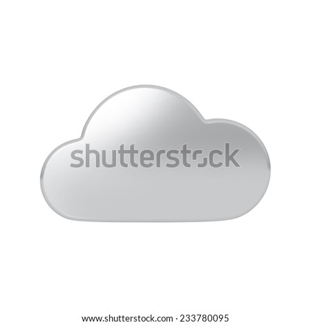 Silver cloud. Highly detailed vector illustration. - stock vector