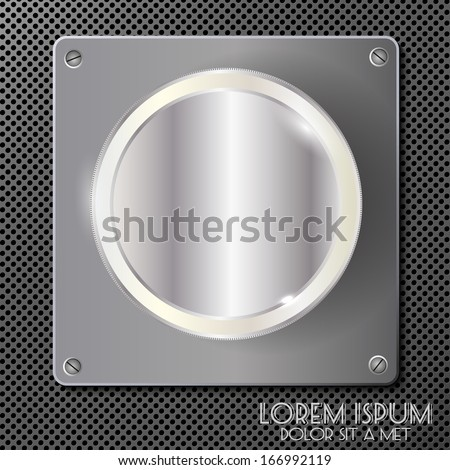 Silver coin on a metal plate