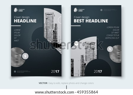 Silver Cover Design Corporate Business Template Stock Vector ...