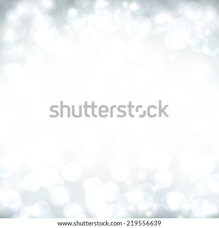 Silver defocused christmas background. Bright bokeh. Vector illustration.  - stock vector