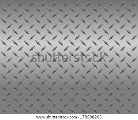 Silver diamond Vector illustration - stock vector