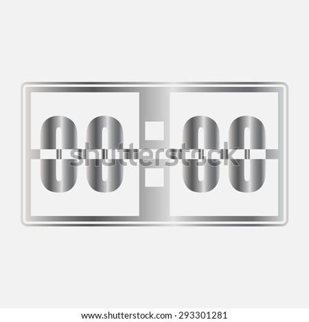 Silver Digital alarm clock vector icon - stock vector